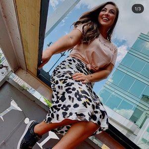 Silk Cheetah Skirt